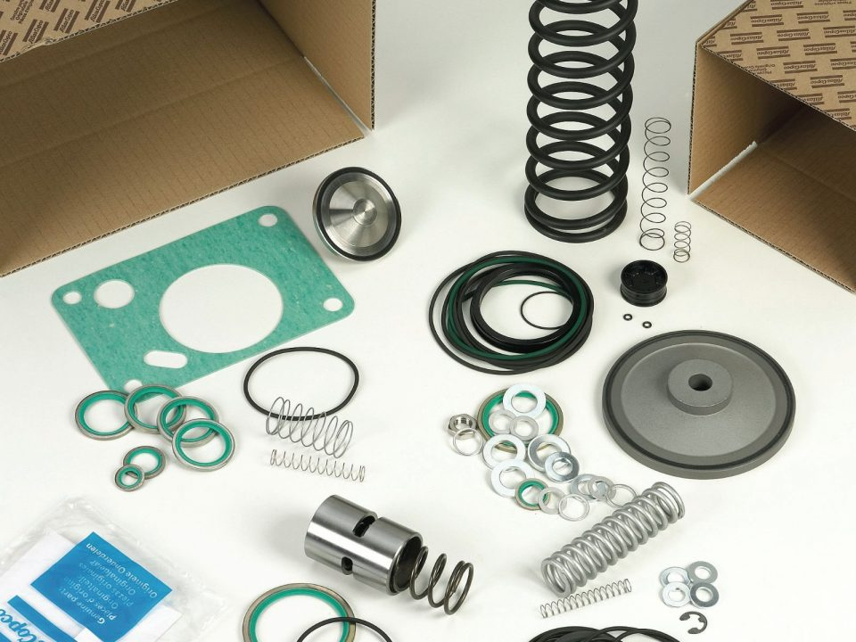 Spare parts for air compressors
